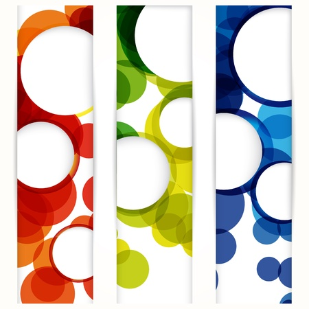 Abstract vertical banner with forms of empty frames for your www design. Vector