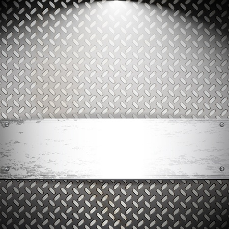 Fluted metal background. Vector Illustration Stock Vector - 10014102