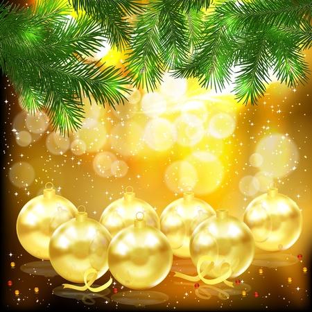 Fondo de Navidad. Ilustración de vector