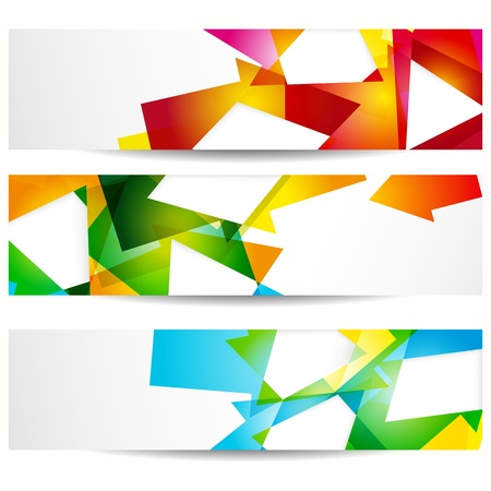 Abstract banner with forms of empty frames for your web design. Stock Vector - 10014084