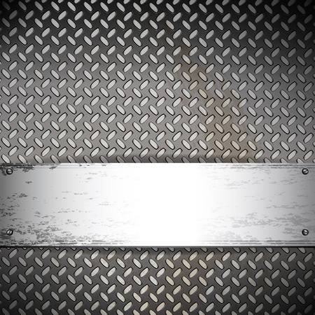 Fluted metal background. Vector Illustration  Vector