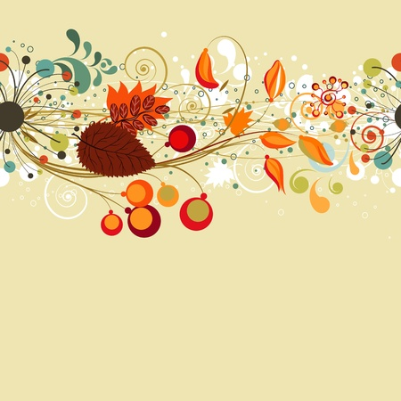 Autumn seamless background card  Vector