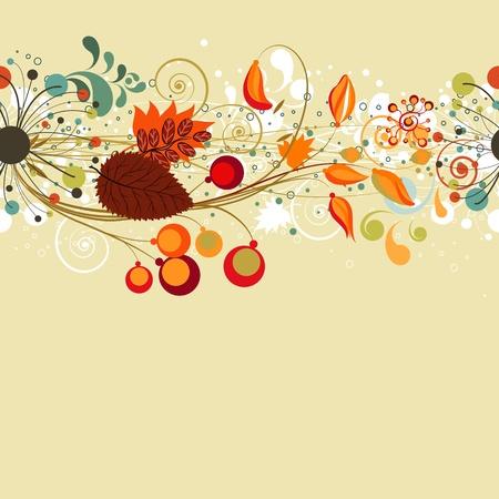 arbre automne: Carte de l'automne de fond sans soudure
