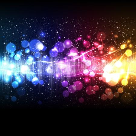 musica electronica: Ola de ecualizador de música de vector Vectores