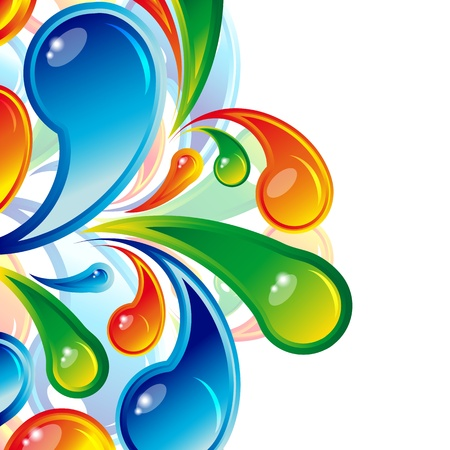 Color water drops design. Vector background.