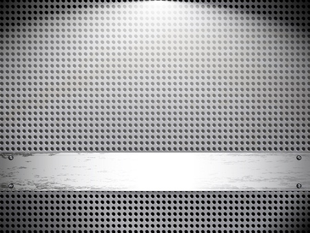 Round cell metal background. Vector card. Vector
