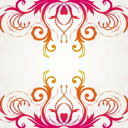 Retro floral background for vintage design. Vector