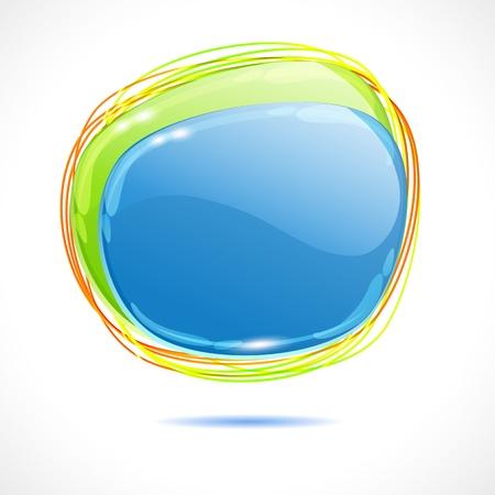 lustrous: Abstract lustrous speech bubble vector background Illustration
