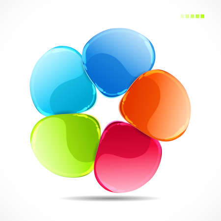 Abstract colorful glass shape vector background  Vector