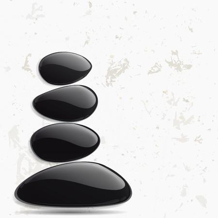 stein schwarz: Abstrakte Meditation Hintergrund.