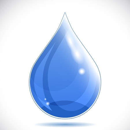damlacıkları: Water drop - vector illustration.