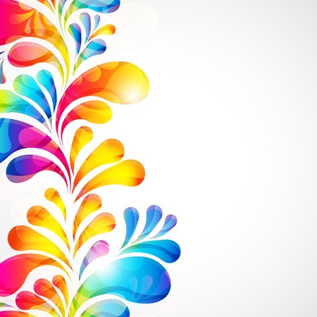 paint drip: Abstract bright background with teardrop-shaped arches.