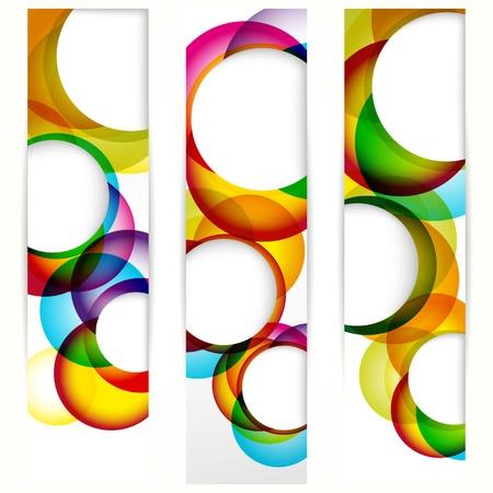 Astratto banner verticale con forme di cornici vuote per il vostro disegno di www.
