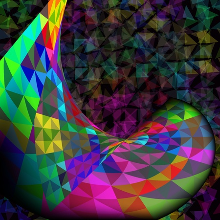 Colorful Mosaic Abstract  Vector