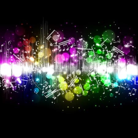 musica electronica: Ola de ecualizador de música de vectores