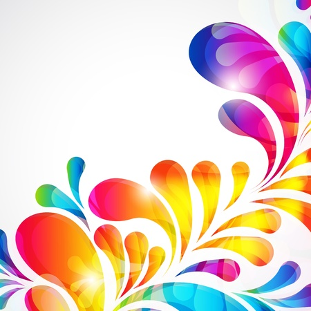 Abstract bright background with teardrop-shaped arches. Vector