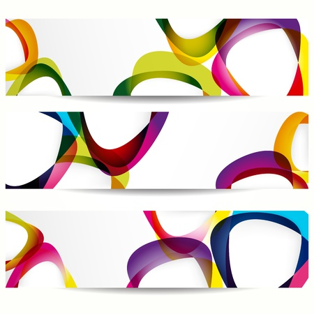 Abstract banner with forms of empty frames for your web design. 向量圖像