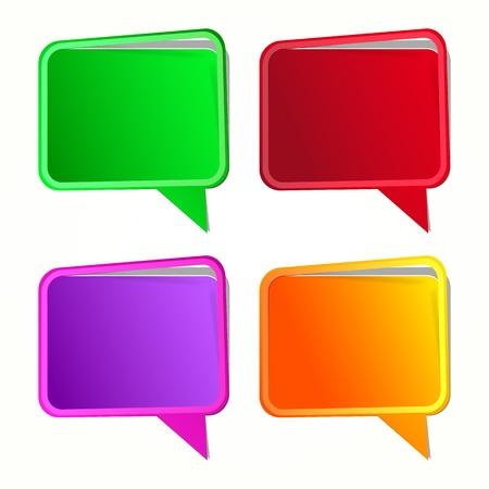 Speech bubble. Labels set Stock Vector - 10304257