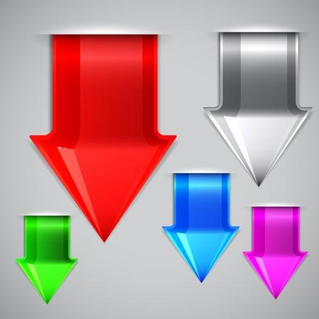 Arrows bookmarks. Vector illustration  Vector
