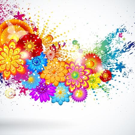 Eps10 Floral design background. Vector