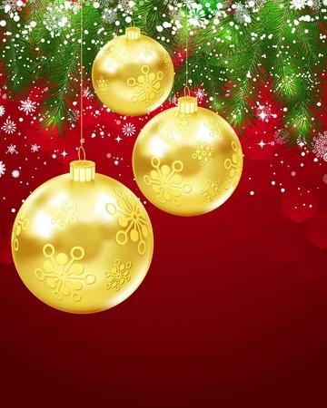 Christmas Greetings Postcard. Stock Vector - 10304275