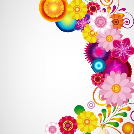 Gift festive floral design background. Illustration