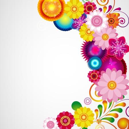 Gift festive floral design background. Stock Vector - 10305158