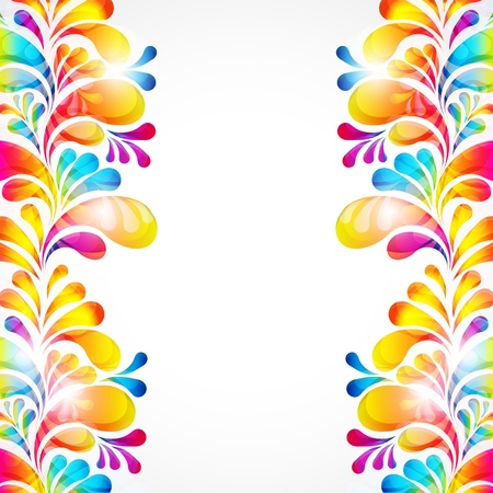 birthday border: Abstract bright background with teardrop-shaped arches.