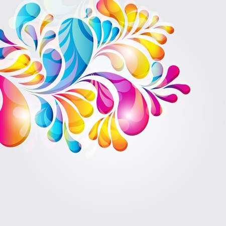 Abstract background composition with arch drops. Vector