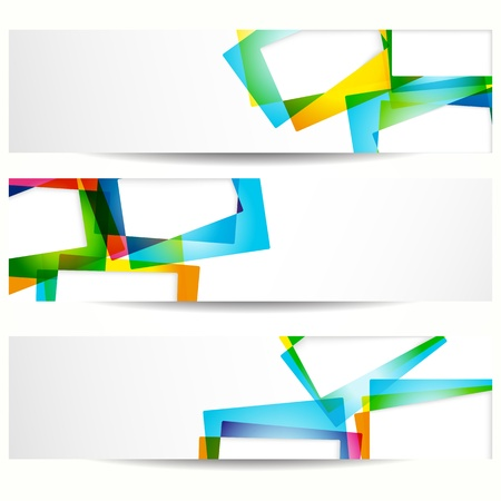 Abstract banner with forms of empty frames for your web design. Stock Vector - 10373822