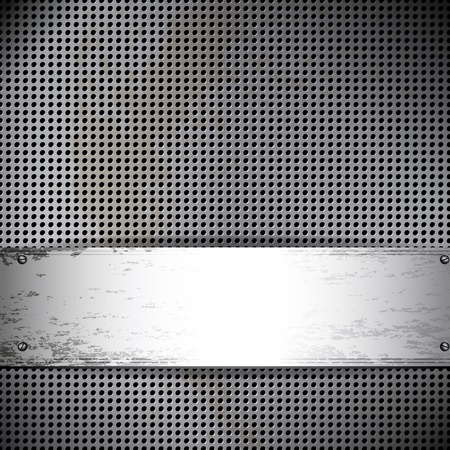 Round cell metal background. Vector card. Stock Vector - 10391999