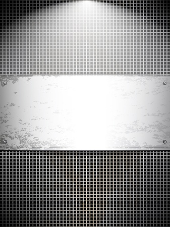 Square cell metal background. Vector card. Stock Vector - 10400991