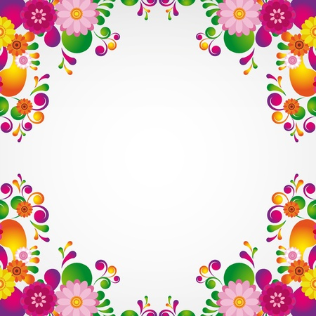 Floral design background. Stock Vector - 10458652