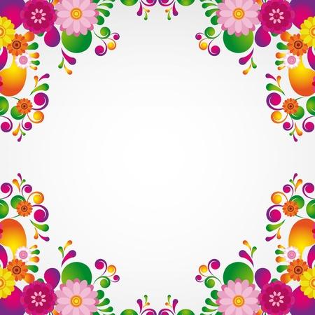 Floral design background.