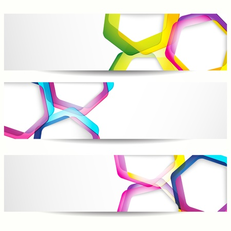 Abstract banner with forms of empty frames for your web design. Vector
