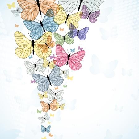 Abstarct Hintergrund mit bunten Schmetterling. Vector.