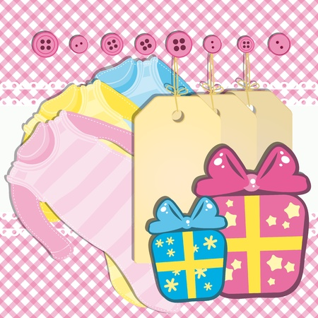 Baby girl gift card  Vector