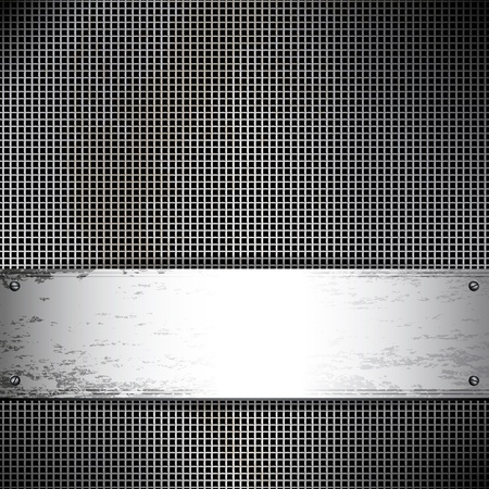 Square cell metal background. Vector