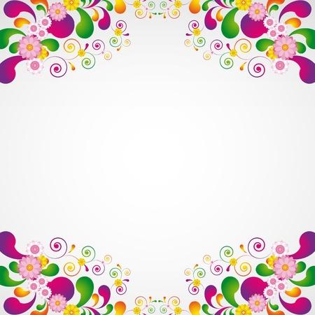 Floral design background. Vector