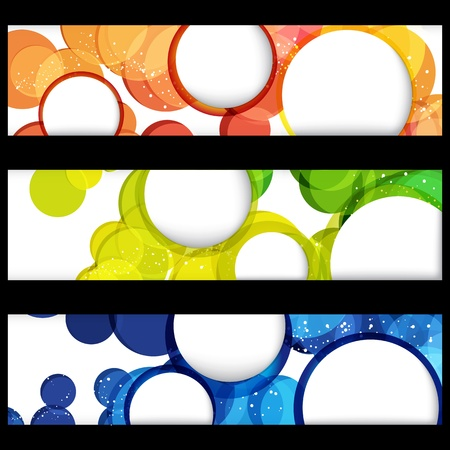 Abstract horizontal banners with forms of empty frames for your www design. Stock Vector - 10723290