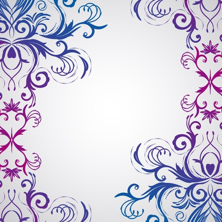 twirl: Abstract floral background with oriental flowers.