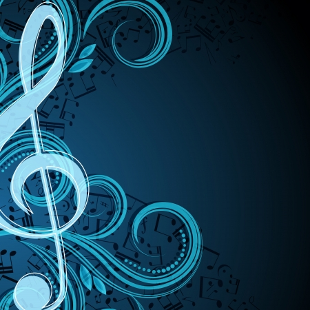 Notes musical vector background Vector
