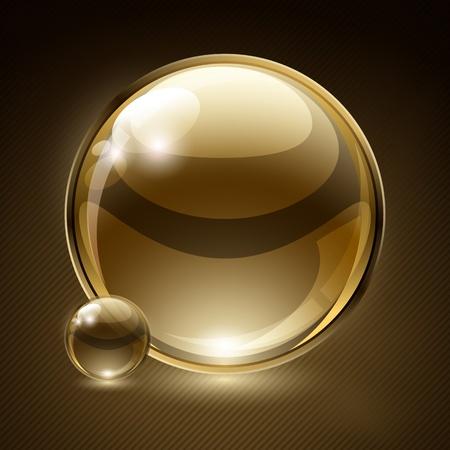 translucent: Sfondo astratto con bolla di vetro discorso. Vector.