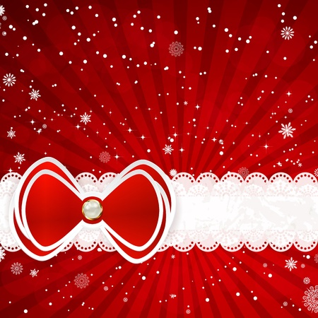 brads: Christmas background with bow illustration.. Illustration