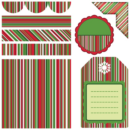 Set of Christmas design frames and stickers Stock Photo - 11310713