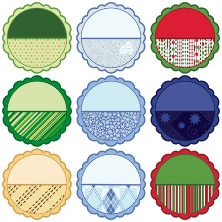 Set of Christmas Round backgrounds photo