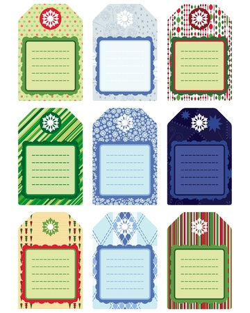 scrap booking: Set of Christmas Tags