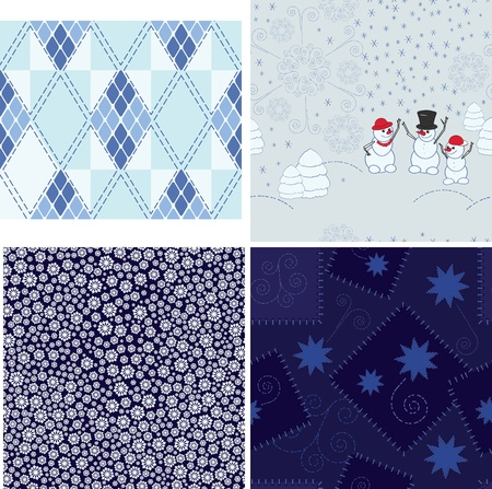 Set of Christmas seamless backgrounds Stock Photo - 11310722