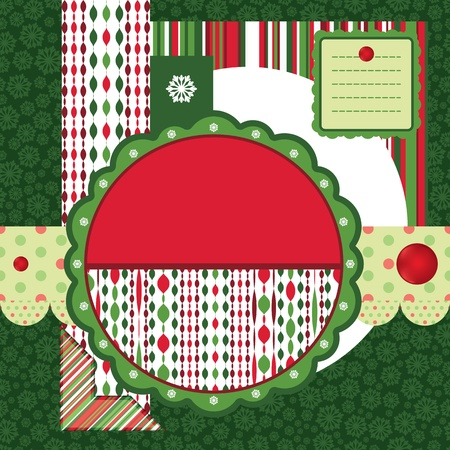 Set of Christmas backgrounds and design elements photo