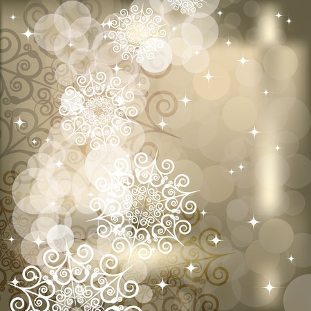 Abstract snowflake  background of holiday lights. Illustration for your design illustration
